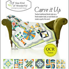 Curve It Up Quilt Pattern: Twelve Traditional Blocks Take on a Fresh Modern Look