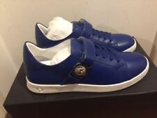 VERSUS VERSACE Lion Head Low Top Blue Trainers Sneakers UK 6, 7, 8, 9, 10