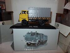 Atlas Editions FQ01 1:43 Scale IFA W50L East German Canvas Truck Yellow Grey
