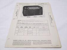 Vintage Sams Photofact Folder Radiola Model 61-1, 61-2, 61-3 Radio Parts Manual