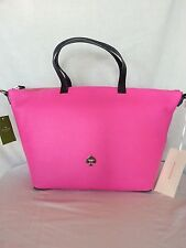 Kate Spade New York Leroy Street Linsley Leather Tote in Vivid Pink NWT:SRP:$378
