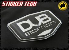DUB EDITION CHROME & BLACK BADGE EMBLEM SUITS 20 22 24 26 INCH WHEELS MAGS SUV