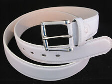 "BELT MENS  JEANS WHITE LEATHER SIZE EXTRA LARGE 42"" - 44"" GREAT GIFT IDEA NEW"