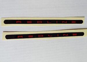 BMX Bike Redline Flight Crank Stickers Decals Red on Black