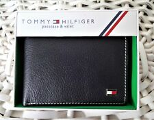 Men's Leather Wallet 'Tommy Hilfiger' Bifold, BLACK,Coin Pouch, MRP $60.00,OFFER