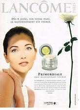 """PUBLICITE ADVERTISING 114  1997  LANCOME  """" PRIMORDIALE""""  CRISTINA REALI creme"""