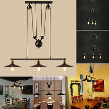 Retro Vintage Edison Industrial Pulley Pendant Light  Artistic Lighting Fixture