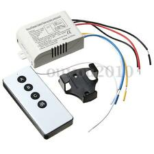 3 Way Port ON/OFF Wireless Digital RF Remote Control Switch For Light Lamp 220V