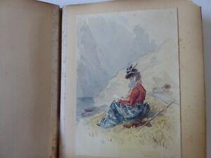 CORNISH VICTORIAN SKETCH BOOK 1888 CORNWALL BOSCASTLE TINTAGEL +++ WJC MONOGRAM