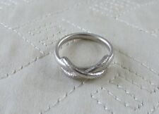 Tiffany & Co Silver X Knot Ring Size 4.25