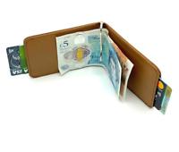 Money Clip Wallet, Mens Cardholder Leather Wallet, Genuine Cow Leather Wallet