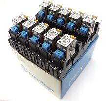 10x FINDER 55.33.8.048.0010 Industrie-Relais 48VAC 3W + 94.83.10 99.80.0.060.98