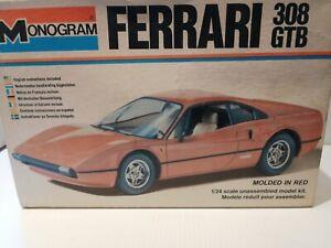 Monogram 1/24 Ferrari 308 GTB. Boxed. Vintage 1980 Kit