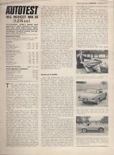 MG Midget Mk III 1275cc 1971 UK Market Road Test Brochure Autocar