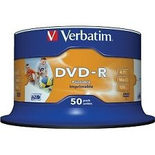 Dvd-r Verbatim 4.7gb 16x imprimible (tarrina 50)