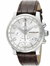 [Mont Blanc] MONTBLANC watch TIME WALKER UTC Silver Dial Automatic 107065 Men's