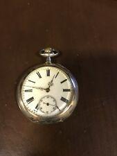Swiss Fancy Porcelain Dial Pocket Watch