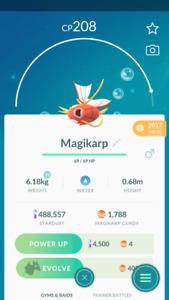 Pokemon account Go Level 30 - 1000+ magikarp Candies - Email Change - 2017 lucky
