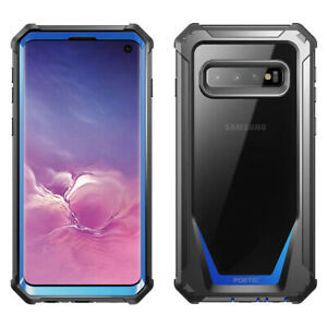 [50pcs] For Galaxy S10 Bumper Shockproof Case Cover | 360 Degree Protetive Blue