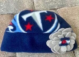 Tennessee Titans Fleece Flower HAT Newborn Baby, Girls, Boys, Children, Adults