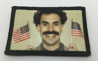 Borat USA FLAG Morale Patch Funny Tactical Military Army Badge Hook