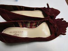 ANNE KLEIN Size 8  Shoes  Wine  Suede Kitten Heels New Sample