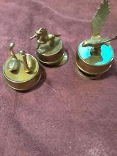 "Brass Bird Music Boxes (3)Unicorn Eagle Swan 4 1/2"" 5-6"""