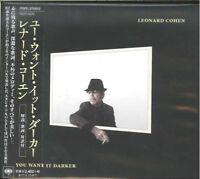 LEONARD COHEN-YOU WANT IT DARKER-JAPAN CD F30