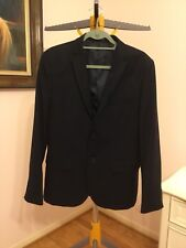 2227e49abc33 H&M Navy Blue Blazer Jacket Sport Coat Modern Slim Fit 40R