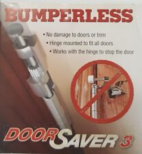bumperless door saver 3 pewter/satin finish hinge door stop