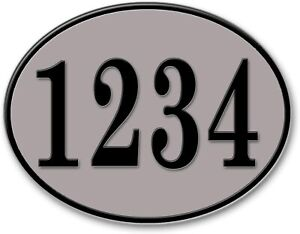 Curb-N-Sign Oval Home Address Numbers Plaque