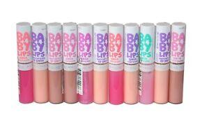 11 x Maybelline Baby Lips Moisturizing Lip Gloss | Mixed Shades |