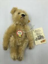 "❤️STEIFF PETSY TEDDY BEAR  HISTORIC MINIATURE 029479 1992-97  RARE GOLD NEW 6""❤️"