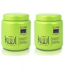 2 PACK KUUL RECONSTRUCTOR SYSTEM CURE ME TREATMENT HAIR 35.2 OZ AVOCADO