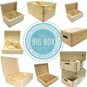 Premium Wooden Box Gift Keepsake Hamper Crates Storage Décor Pure Wood Grain NEW