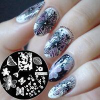 Nagel Schablone Stempel Nageldesign Nail Art Stamp Image Plate Stamping Qgirl013
