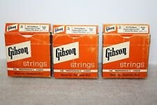 2 New Gibson A or 5th String & 8 New Gibson E or 6th String Elect Guitar Strings