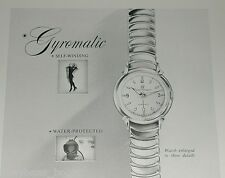1953 Girard Perregaux Watch ad, Gyromatic wristwatch