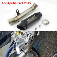 Slip RSV4 Motorcycle Exhaust System Tip Pipe Mid Link Pipe for 2015 Aprilia rsv4