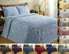 Better Trends Ashton 100% Cotton Tufted Chenille Bedspread Assorted Sizes Colors