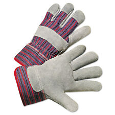Anchor Brand Leather Palm Work Gloves Gray/Blue/White Large 12 Pairs 2000