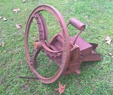 Antique Vintage Buncle & Son Hand Chaff Cutter Cast Iron Wheel - Garden Display