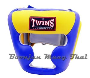 Fairtex Muay Thai Head Guard Kick Boxing Headgear Black Red White Blue
