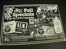 Bryan Adams Styx Human League The Animals R.E.M. others 1983 promo trade advert