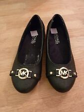 BRAND NEW Michael Kors Gia Black Flat Pump/Shoe. Size UK 13.5