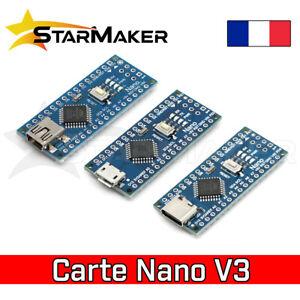 Carte compatible Arduino NANO V3 ATmega328P Micro-USB / C / Mini shield CH340G