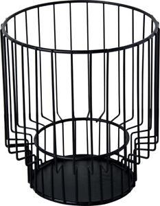TREND*Metall*Kerzenständer*schwarz*rund*Ø13cm*für Teelichtglas&Stumpenkerze*
