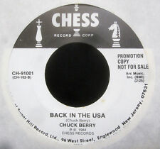 "Chuck Berry - ROCK & ROLL MUSIC - BACK IN THE USA Promo Vinyl 7"" Single  [1984]"