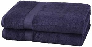 Brand – Pinzon Organic Cotton Bath Sheet Towel Set of 2 Navy Blue