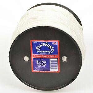 EVERLASTO 4MM NYLON  BLIND CORD STRONG SYNTHETIC CORD BLACK WHITE - 50M, 100M